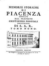 Memorie storiche della città di Piacenza compilate dal proposto Cristoforo Poggiali