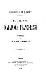Douze ans d'alliance franco-russe