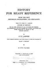 History for Ready Reference: Tunnage-Zyp and Supplement