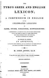 The Tyro's Greek and English Lexicon: Or a Compendium in English of the Lexicons of Damm, Sturze, Schleusner,Schweighaeuser