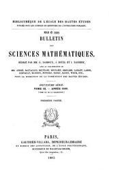 Bulletin des sciences mathématiques: Volume20
