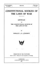 Constitutional Sources of the Laws of War: Article on the Constitutional Sources of the Laws of War
