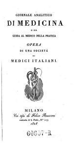 Giornale critico di medicina analitica, composte da una societa di medici italiani e compilato da Giovanni Strambio: Volume 10