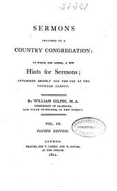 Sermons Preached to a Country Congregation: (VIII, 456 p.)