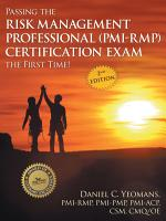 Passing the Risk Management Professional  PMI RMP  Certification Exam the First Time  PDF