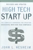 High Tech Start Up  Revised and Updated PDF