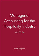 Managerial Accounting for the Hospitality Industry with CD Set PDF