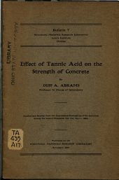 Effect of Tannic Acid on the Strength of Concrete