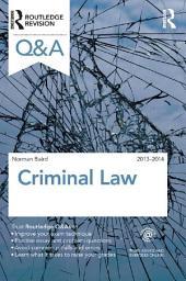 Q&A Criminal Law 2013-2014: Edition 9
