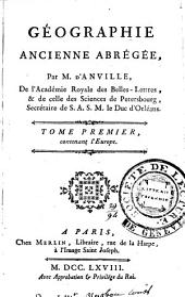 Géographie ancienne abrégée: Volume1
