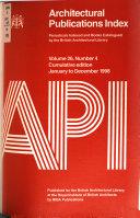 Architectural Publications Index PDF