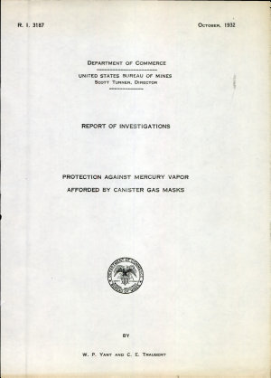 Protection Against Mercury Vapor Afforded by Canister Gas Masks PDF