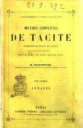 Oeuvres complètes de Tacite traduction de Dureau de Lamalle: Annales, Volume1