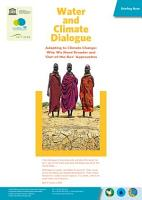Water and Climate Dialogue  Adapting to Climate Change  Why we need Broader and out of the box approaches  PDF