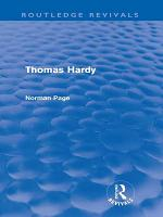 Thomas Hardy  Routledge Revivals  PDF