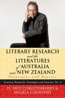 Literary Research and the Literatures of Australia and New Zealand PDF