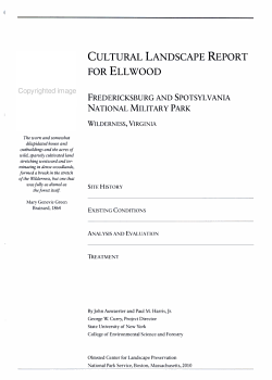 Cultural Landscape Report for Ellwood  Fredericksburg and Spotsylvania National Military Park PDF