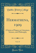 Hermathena  1909  Vol  15 PDF