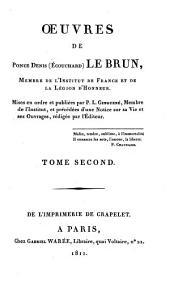 Oeuvres de Ponce Denis (Ecouchard) Le Brun...