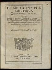 De medicina philosophica