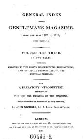 General Index to the Gentleman's Magazine: Volume 3