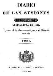 Diario de las sesiones de Cortes: Volume 1