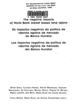 Impactos Negativos Da Pol  tica de Reforma Agr  ria de Mercado Do Banco Mundial PDF