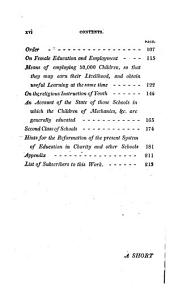 Improvements in Education, as it Respects the Industrious Classes of the Community;: Containing, Among Other Important Particulars, an Account of the Institution for the Education of One Thousand Poor Children, Borough-road, Southwark; and of the New System of Education on which it is Conducted