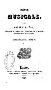 Revue musicale: Volume4