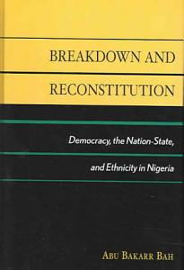 Breakdown and Reconstitution Book