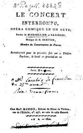 Le concert interrompu: opera comique en un acte