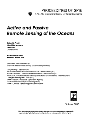 Active and Passive Remote Sensing of the Oceans PDF