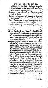 Mémoires et instructions pour servir dans les négociations et affaires concernant les droits du Roy de France