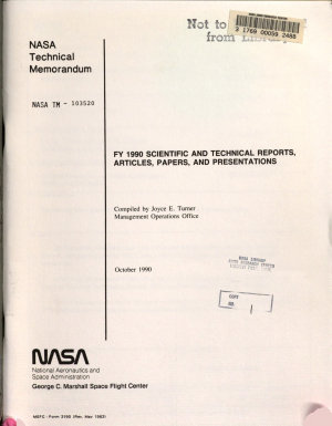 FY 1990 Scientific and Technical Reports  Articles  Papers  and Presentations