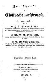 Zeitschrift für Civilrecht und Prozeß. Hrsg. von J(ustus) T(himotheus) B(althasar von) Linde, Th(eodor) G. L. Marezoll, J(ohann) N(epomuk) von Wening-Ingenheim: Band 29