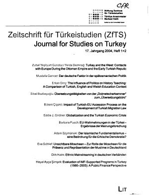 Zeitschrift f  r T  rkeistudien PDF