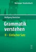 Grammatik verstehen  Einfacher Satz PDF