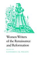 Women Writers of the Renaissance and Reformation PDF