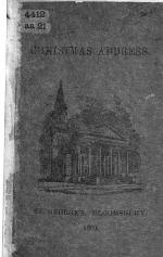 Christmas Address. St. George's, Bloomsbury, 1869. [With a list of the various societies connected with the church, etc.]