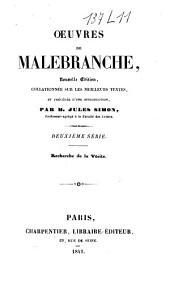 Oeuvres de Malebranche: Recherche de la vérité