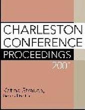 Charleston Conference Proceedings, 2001