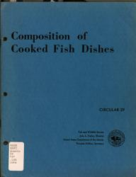 Composition Of Cooked Fish Dishes Book PDF
