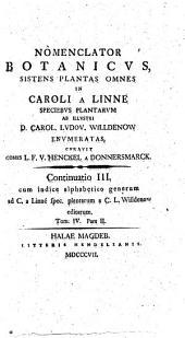 Nomenclator Botanicus. Continuatio III.