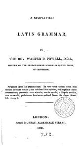A simplified Latin grammar