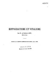 Hippocratisme et vitalisme