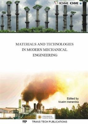 Materials and Technologies in Modern Mechanical Engineering PDF
