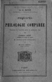 Principes de philologie comparée