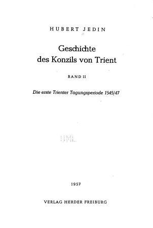 Die erste Trienter Tagungsperiode 1545 PDF