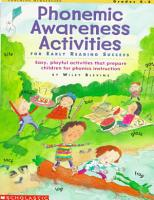 Phonemic Awareness Activities for Early Reading Success PDF