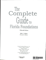 The Complete Guide to Florida Foundations 2003 PDF